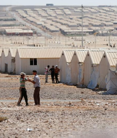 Azraq Jordan Refugee Camp